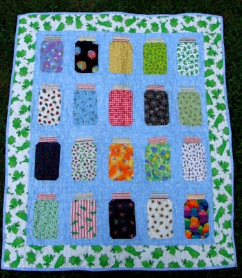 bug jar quilt block tutorial Canning Jar Quilt Pattern Inspirations