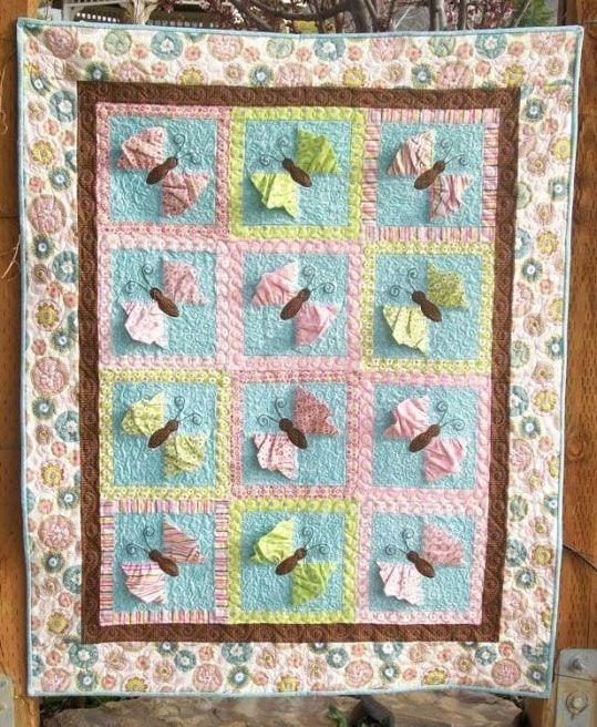 butterfly kisses 3 d quilt pattern cute quilt patterns at Interesting Butterfly Kisses Quilt Pattern