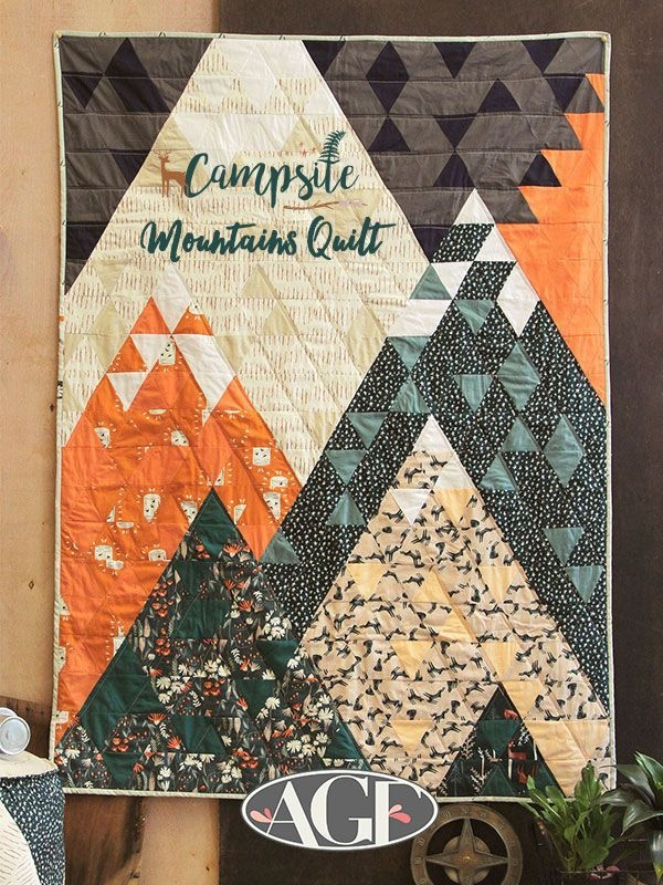 camping quilt kit mountains quilt kit campsite art Unique Arts And Crafts Quilt Patterns Inspirations