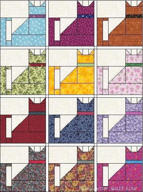 carolcatblocktop quilting cat quilt patterns dog quilts Cool Cat Quilt Block Patterns Inspirations
