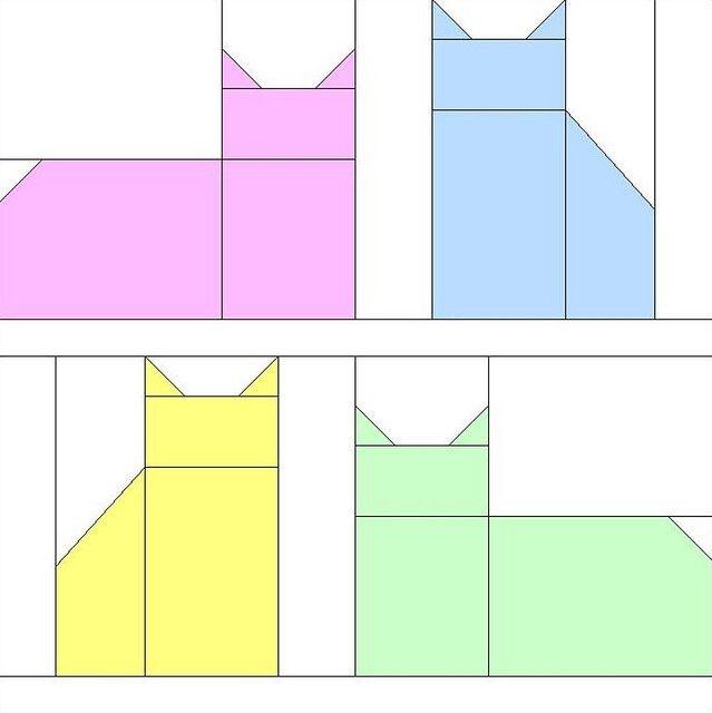 cat block pattern quilt projects cat quilt patterns cat Cool Cat Quilt Block Patterns Inspirations