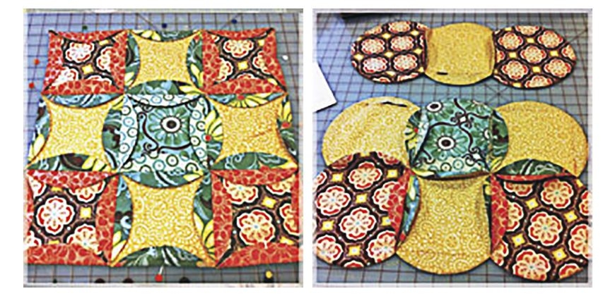 cathedral window quilt freaky fast mock accuquilt Mock Cathedral Window Quilt Pattern Inspirations