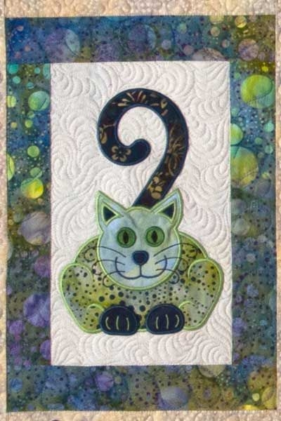 cats meow quilt with machine embroidery design lunch Interesting Applique Cat Quilt Patterns