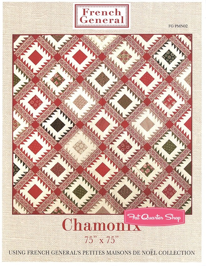 chamonix quilt pattern french general patterns fg pmn02 Modern French General Quilt Pattern Gallery