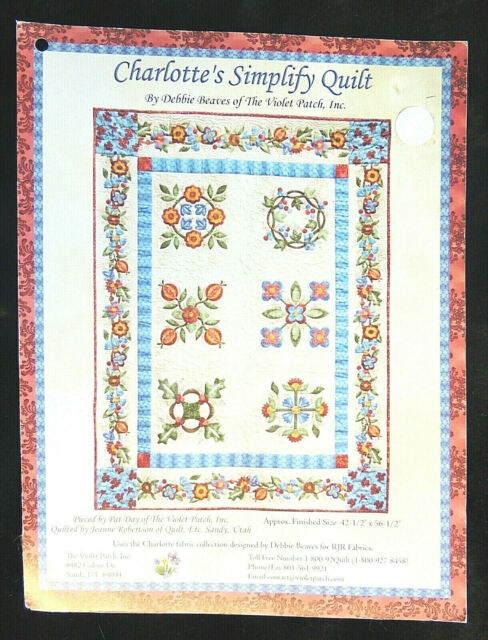 charlottes simplify quilt pattern card debbie beaves the violet patch quilting Cool Debbie Beaves Quilt Patterns Inspirations