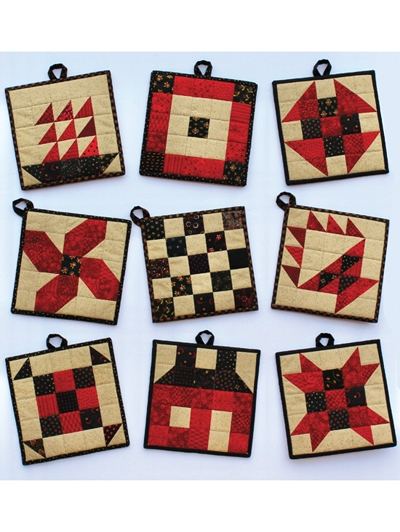 classic patch pot holders pattern Modern Quilted Pot Holder Patterns