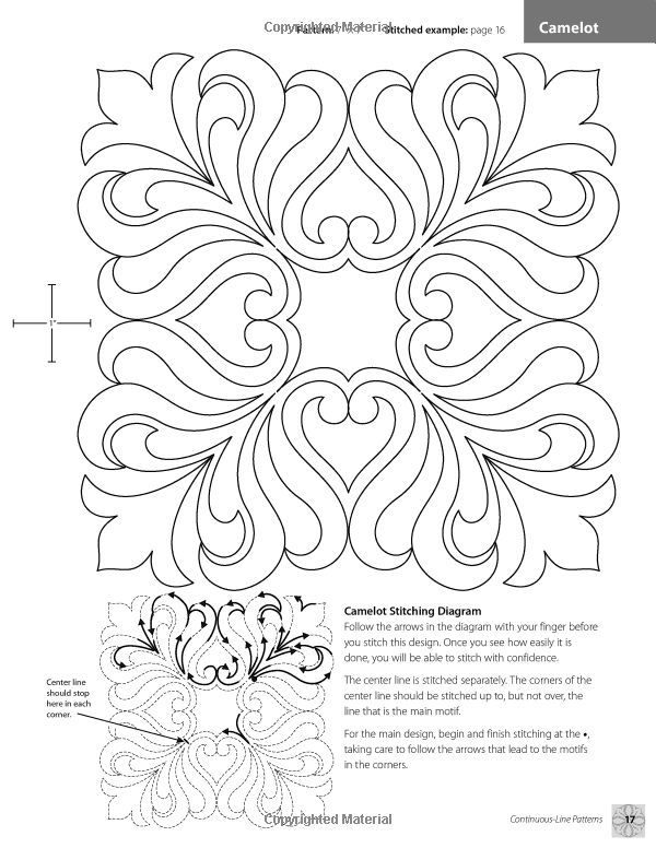 continuous line quilting designs 80 patterns for blocks Unique Continuous Line Quilting Patterns