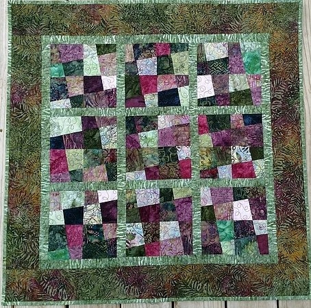crazy 4 patches or crazy 9 patches Cozy Crazy Nine Patch Quilt Pattern