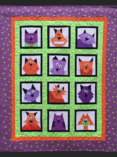 crazy cats quilt pattern Cozy Cat Quilt Patterns Inspirations