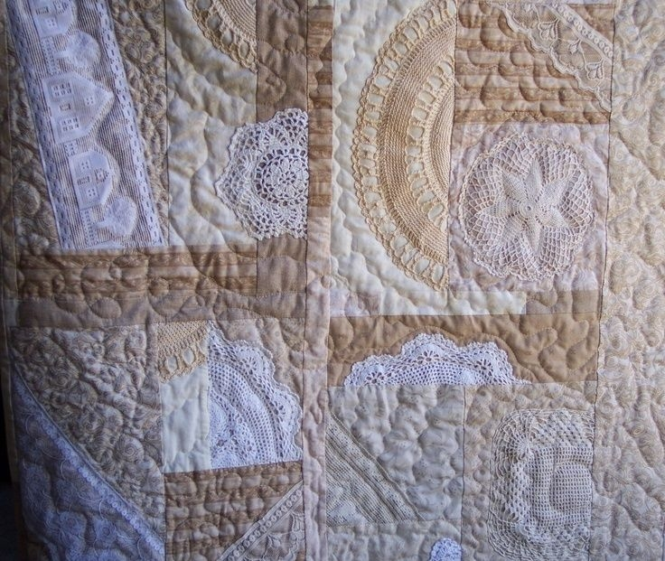 crazy quilt with doilies my quilt using doilies and lace Interesting Vintage Doily Quilt Gallery
