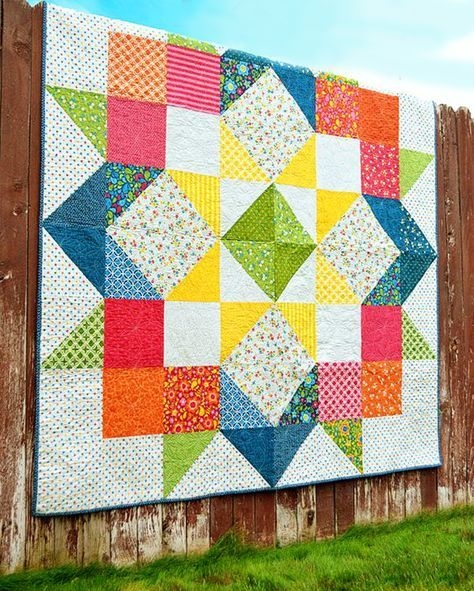 create a striking quilt with this versatile pattern quilts Interesting Layer Cake Quilt Patterns