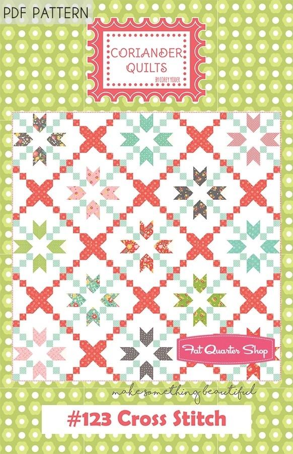 cross stitch downloadable pdf quilt pattern coriander quilts Stylish Cross Stitch Quilt Patterns Inspirations