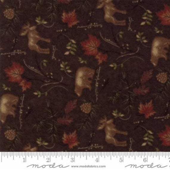 cub lake flannel quilting fabric from moda dark brown animals Stylish Flannel Quilting Fabric Gallery
