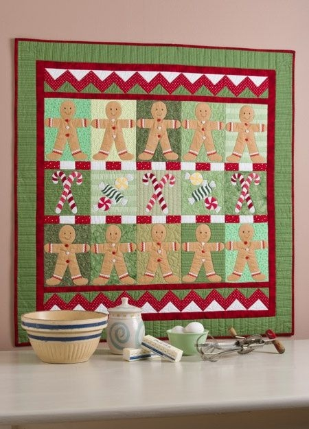 cute gingerbread quilt from deck the halls book stuff to Cool Gingerbread Quilt Pattern Gallery