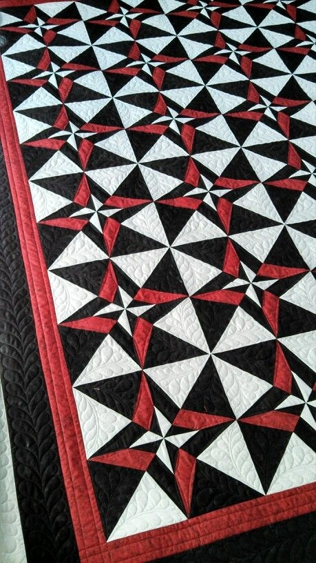 day and night quilt quilting quilts custom quilts star Modern Night And Day Quilt Pattern