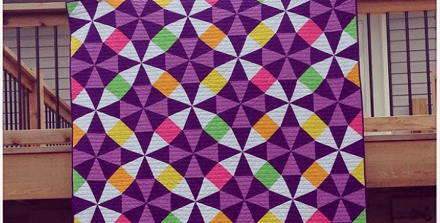 design your own kaleidoscope quilt quilting digest Cozy Kaleidoscope Patchwork Quilt Pattern