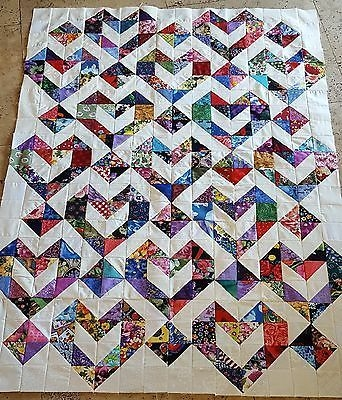 details about gorgeous scrappy chasing goose quilt top 100 Beautiful Ebay Cotton Fabric Quilting Ideas Gallery