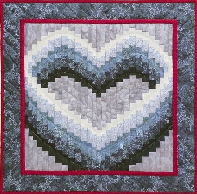 details about grammies chickens quiltwallhanging pattern Elegant Bargello Heart Quilt Pattern