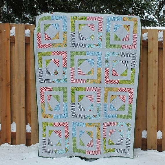 digital pdf frame it quilt pattern ba throw twin queen king size digital quilter modern quilt lap quilt easy beginner Cool Frames For Ba Baby Quilts Inspirations
