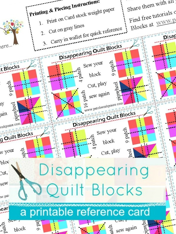 disappearing 4 patch quilt block tutorial Interesting Disappearing 4 Patch Quilt Pattern