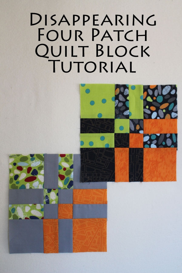 disappearing four patch tutorial Interesting 4 Inch Square Quilt Pattern