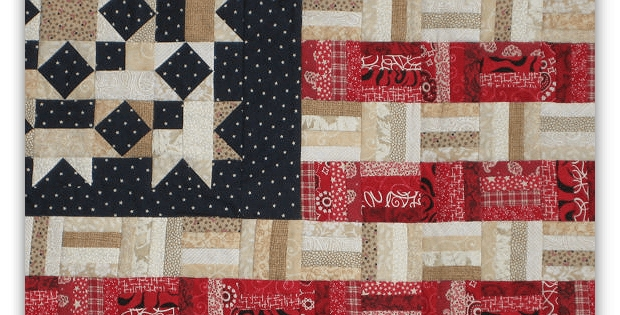 display your colors with this scrappy flag quilt quilting Cozy American Flag Quilt Pattern