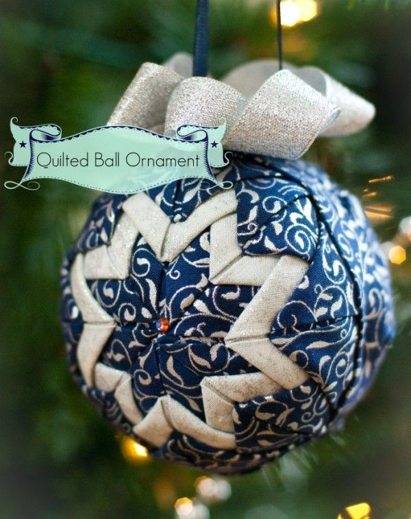 diy no sew quilted ball ornament christmas ornaments Cool No Sew Quilted Ornaments Gallery