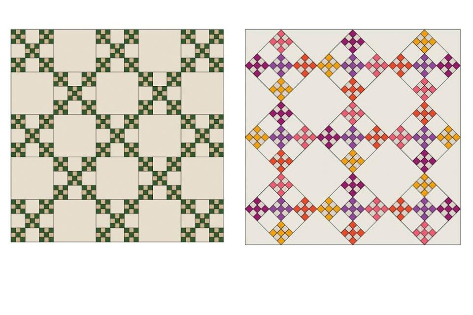 double nine patch quilt block pattern Double Nine Patch Quilt Pattern Gallery