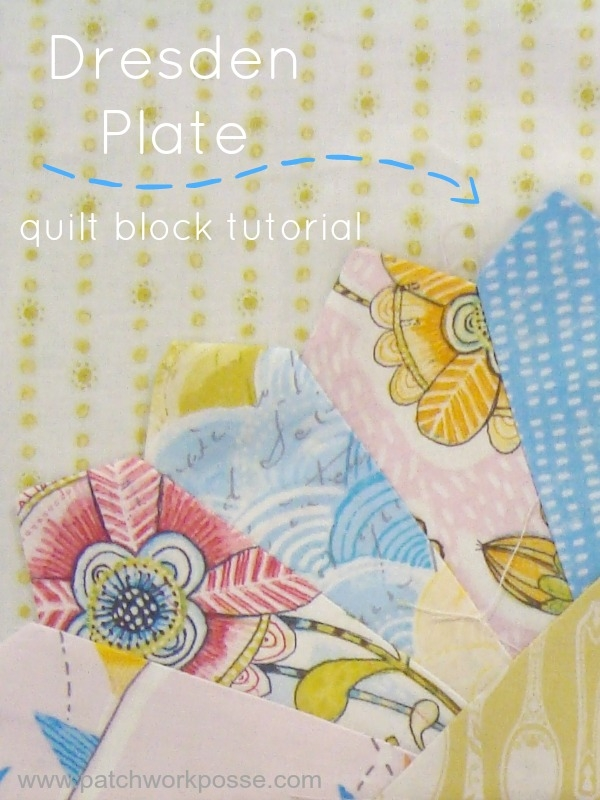 dresden plate quilt block tutorial and template Cozy Dresden Plate Quilt Block Pattern