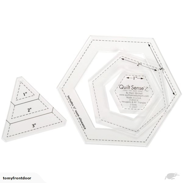 dritz quilt sense hexagons 60 degree triangles Cozy Quilt Sense Wonder Triangles Inspirations