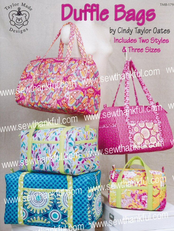 duffle bags sewing pattern book cindy taylor oates Elegant Quilted Duffle Bag Sewing Pattern Inspirations