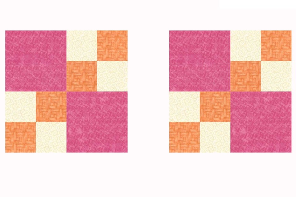 easy double 4 patch quilt block pattern Easy Four Patch Quilt Pattern