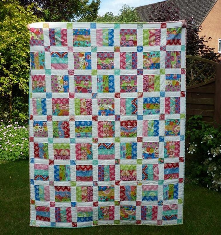easy jelly roll quilt pattern 6 sizes bluprint Interesting Quilts Made With Jelly Rolls Patterns
