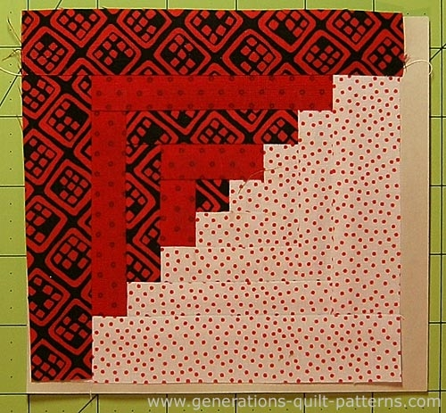 easy log cabin quilt pattern paper pieced to perfection Modern Quilt Patterns Log Cabin Inspirations