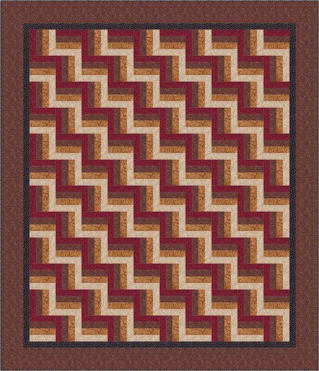 easy rail fence bed quilt pattern Cozy Split Rail Fence Quilt Pattern Inspirations