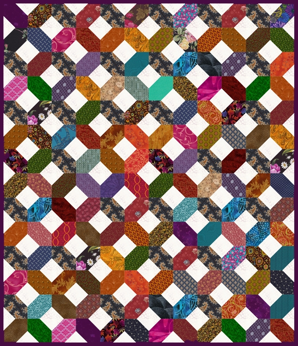 easy scrap quilt pattern make an xs and os quilt Modern Easy Scrappy Quilt Patterns Gallery
