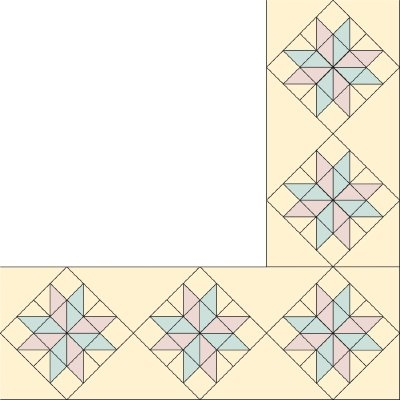 eight pointed star quilt border pattern howstuffworks Elegant Quilting Patterns For Borders Inspirations