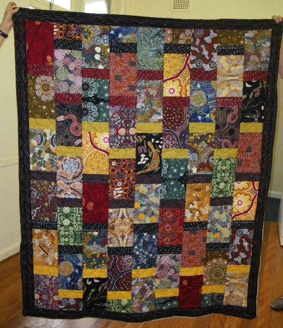 elaine made this very effective quilt for her cousin from Unique Aboriginal Quilt Patterns Inspirations