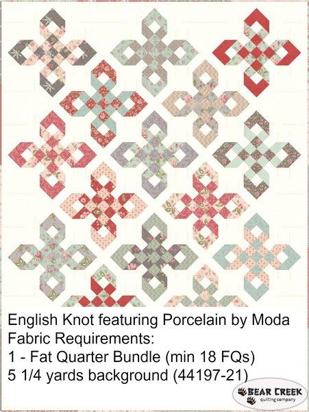 english knot pattern quilt patterns primarily pieced Stylish Waste Knot Quilt Instructions