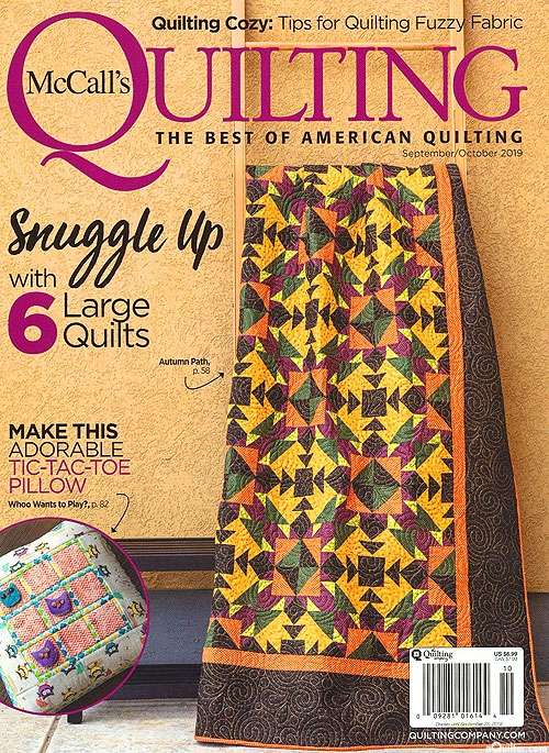 equilter mccalls quilting magazine septemberoctober 2019 Interesting Mccalls Quilting Patterns Free