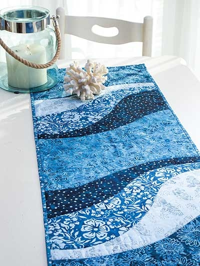 ez breezy quilt as you go table runner place mat pattern Modern Quilted Table Runner Patterns Gallery