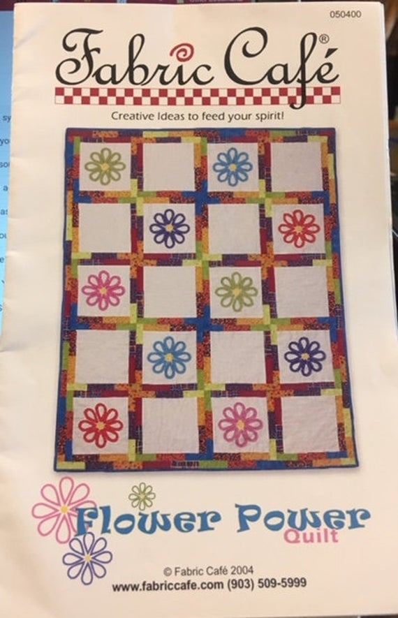 fabric cafe flower power quilt pattern paper Modern Flower Power Quilt Pattern Gallery