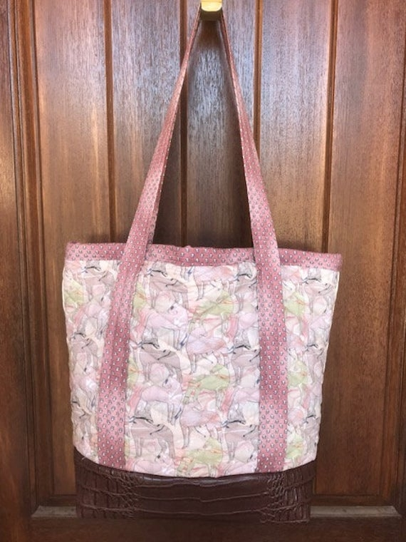 fabric quilted tote bag Modern New Fabric Quilted Tote Bags Inspirations