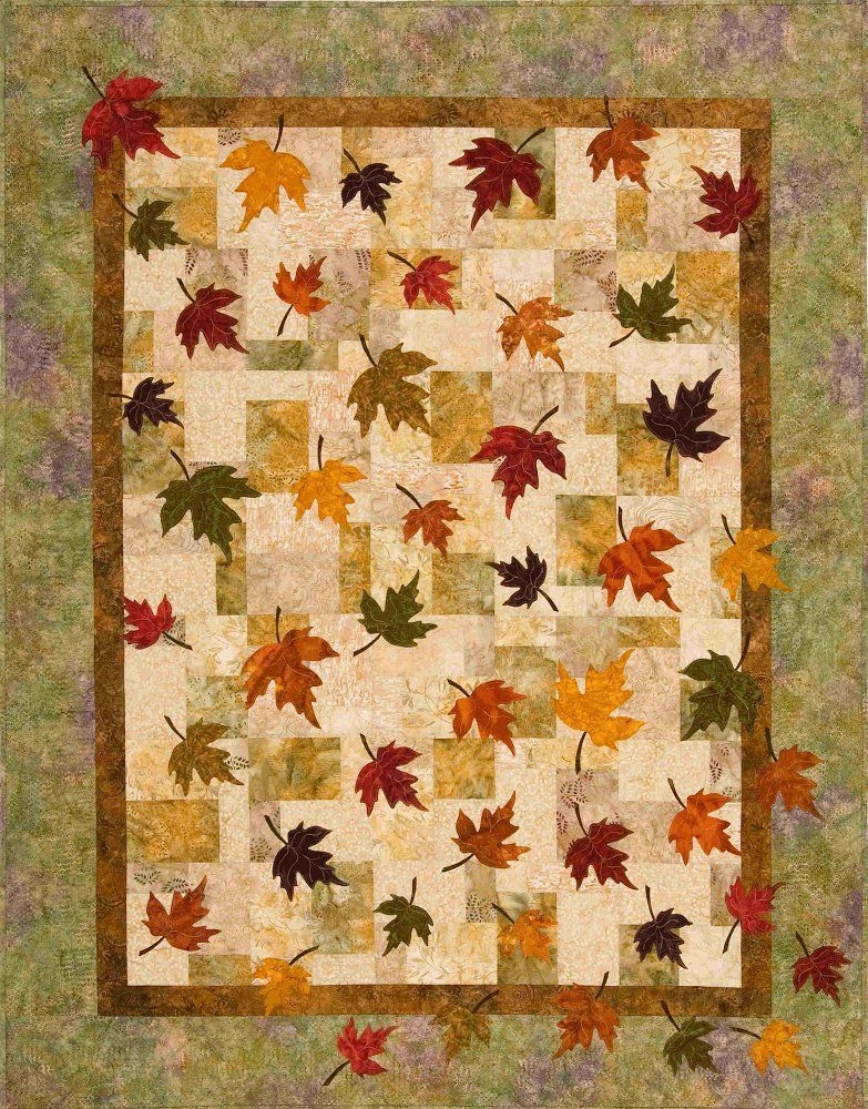 falling leaves quilt pattern the virginia quilter someday Cool Fall Leaves Quilt Pattern Gallery