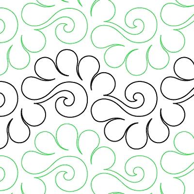 feather flip paper 85 quilting surface design Unique Continuous Line Quilting Patterns