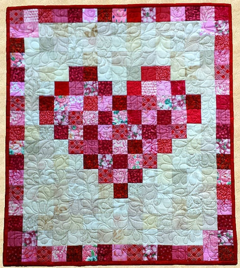 february heart quilted wall hanging pattern Unique Quilted Wall Hangings Patterns