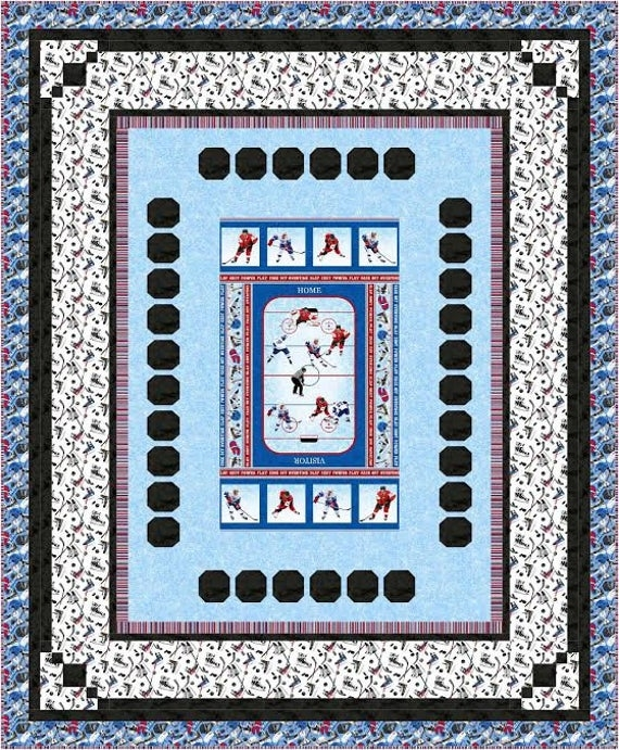 final whistle quilt pattern downloadable panel hockey Hockey Quilt Pattern