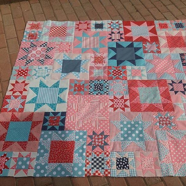 finally finished piecing my farm girl vintage picnic quilt Modern Vintage Picnic Quilt Gallery