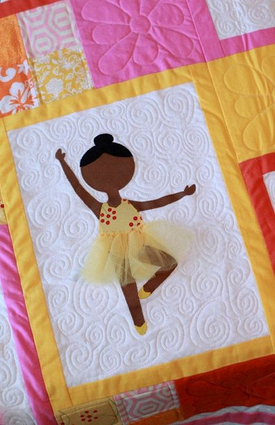 first position modern applique ballerina quilt pattern Stylish Applique Quilt Patterns For Children Inspirations