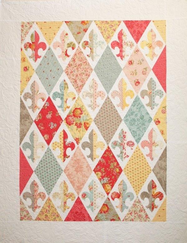fleur de france quilt pattern Stylish Fleur De Lis Quilt Pattern